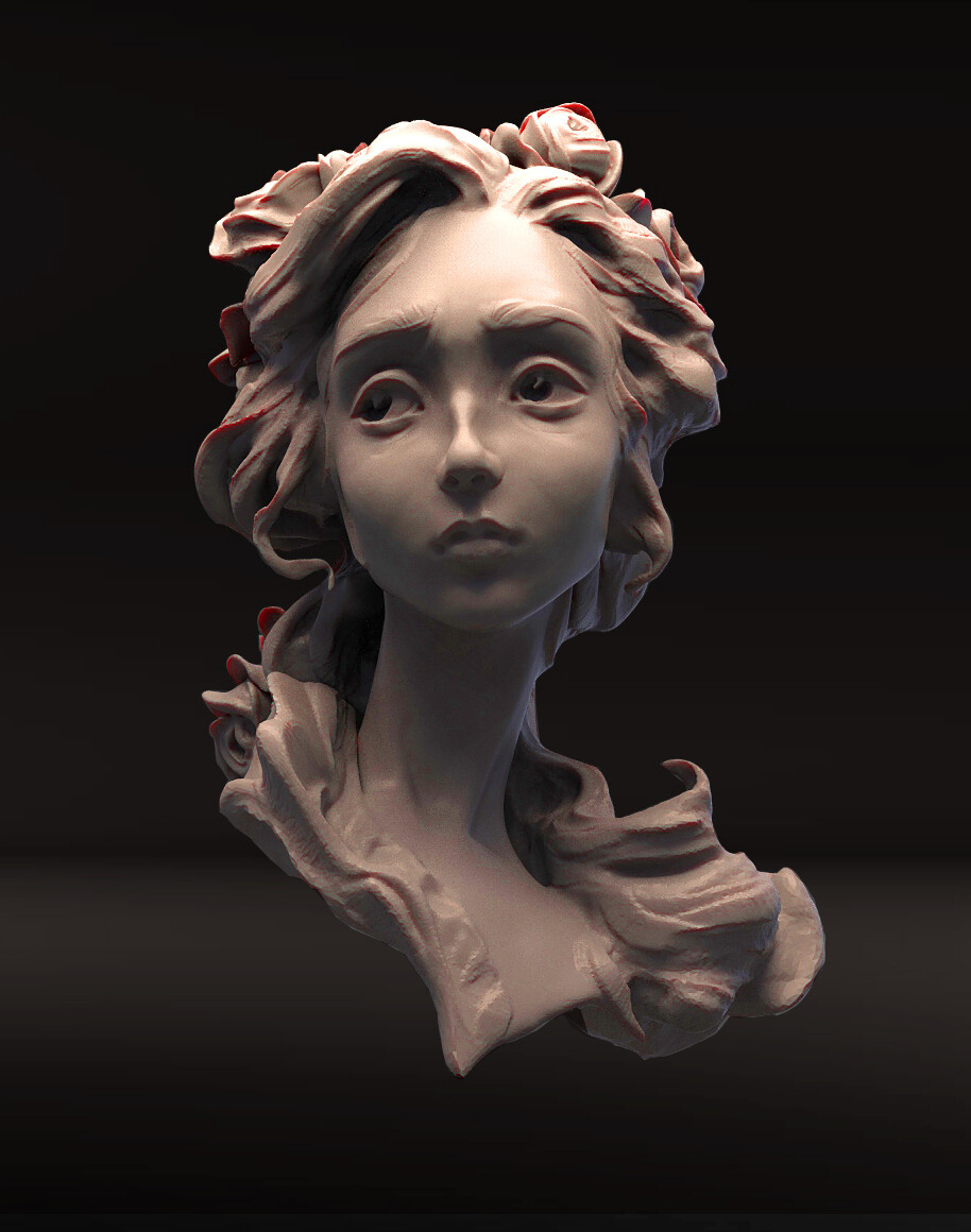 Gretchen from Faust. Quick exercise in Sculptriss pro mode.