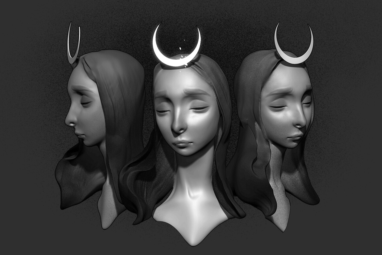Samhain 1 h Lunch sculpt full of happy accidents ;) Zbrush, PS