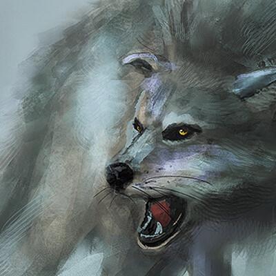Shizu ren wolf speedpainting