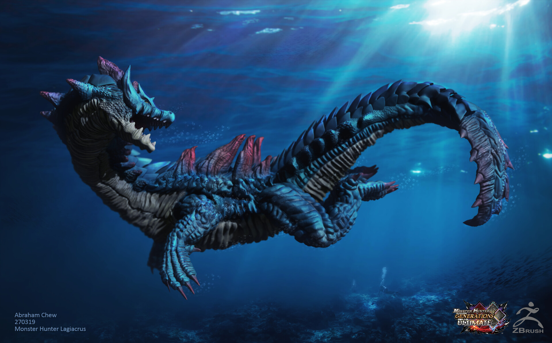 Abraham Chew Zbrush Monster Hunter Lagiacrus Feared by sailors as 'the lords of the seas', they store enough electricity in their spinal organs to make the. abraham chew zbrush monster hunter