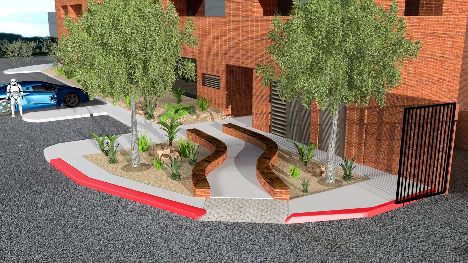 3D Walkway Rendering