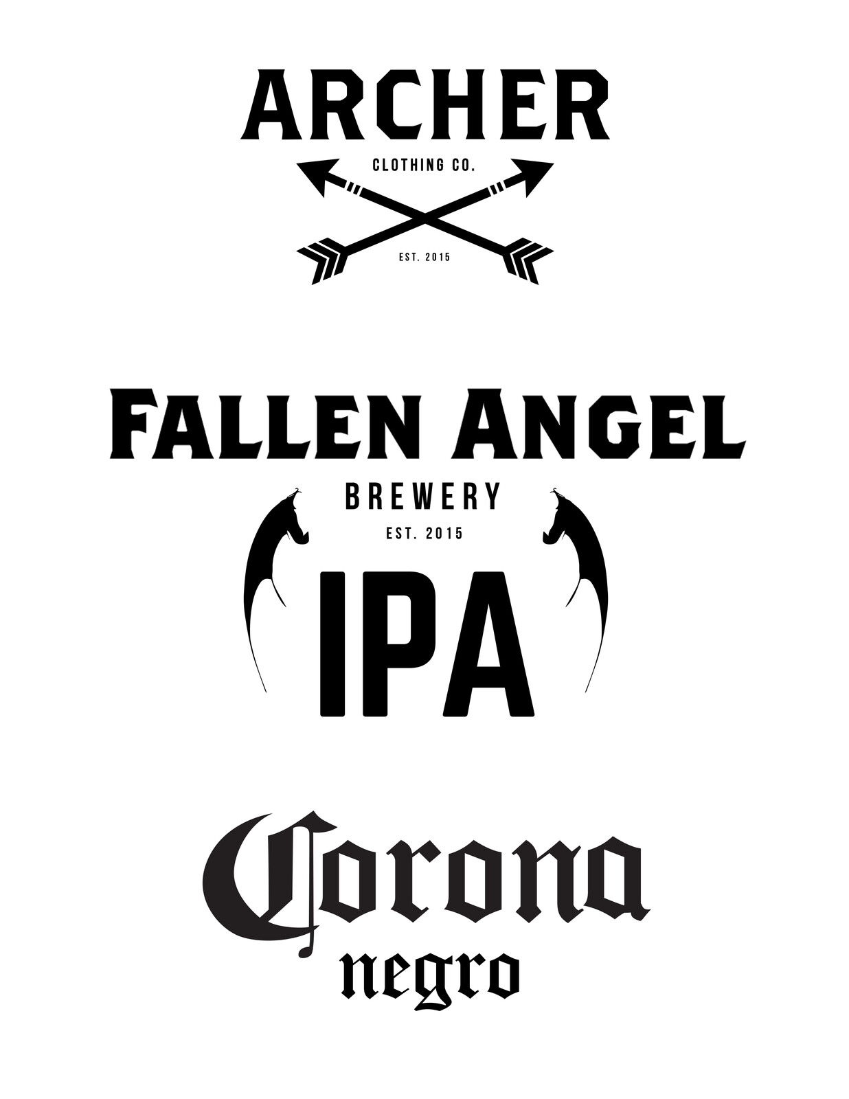 Archer Clothing / Fallen Angel IPA / Corona Negro