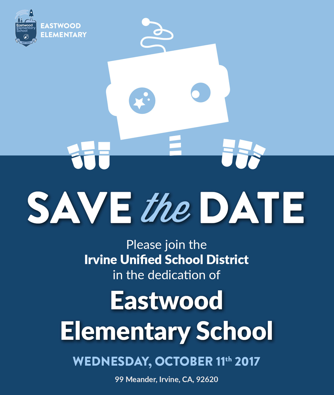Eastwood Dedication Save The Date