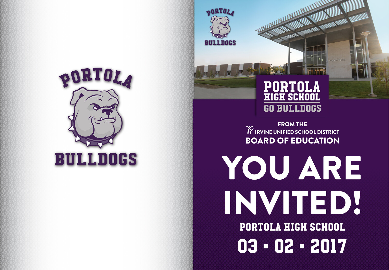 Portola High School Dedication Invitation