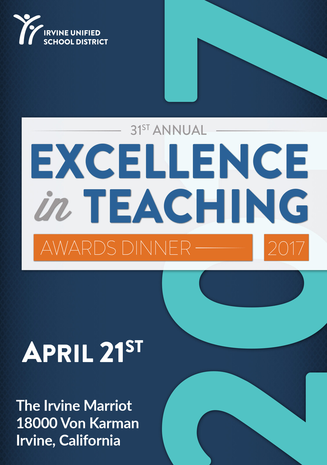 Excellence in Teaching Ceremony - Booklet Cover 2017