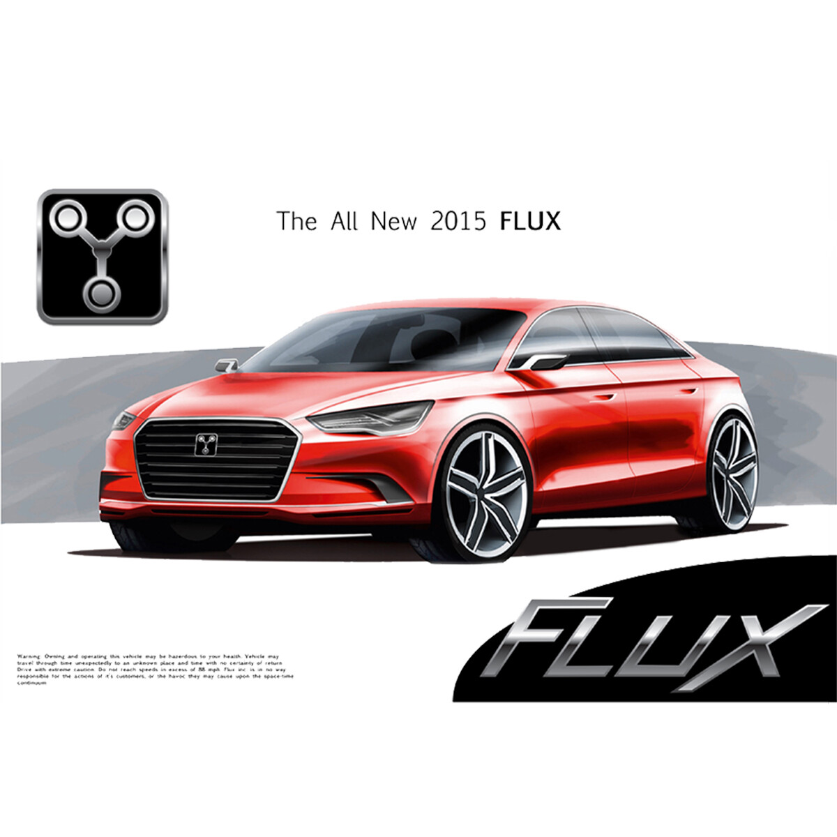 Flux Electric Car Poster