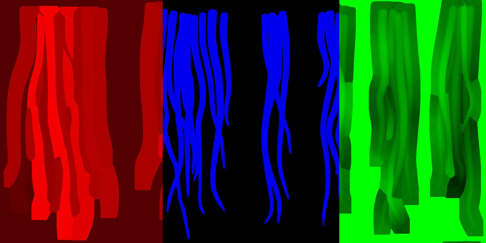 Fur strands texture ( ID / Opacity / Height )
