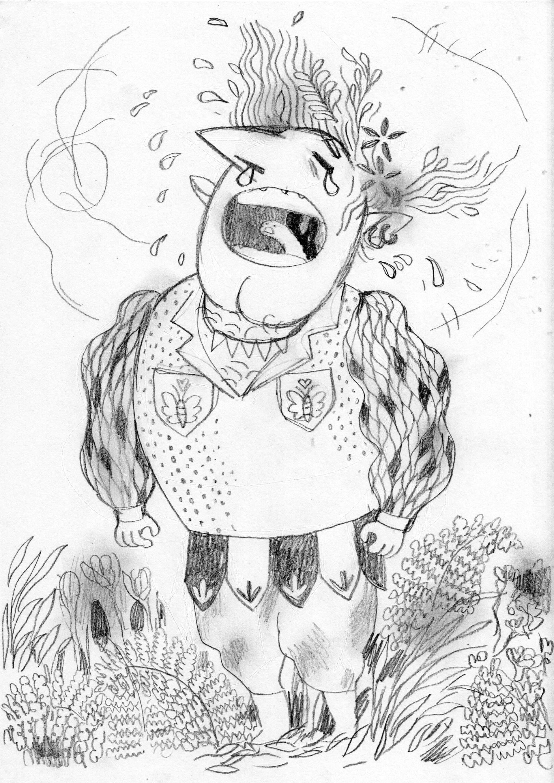 Korina hunjak bogar sketch