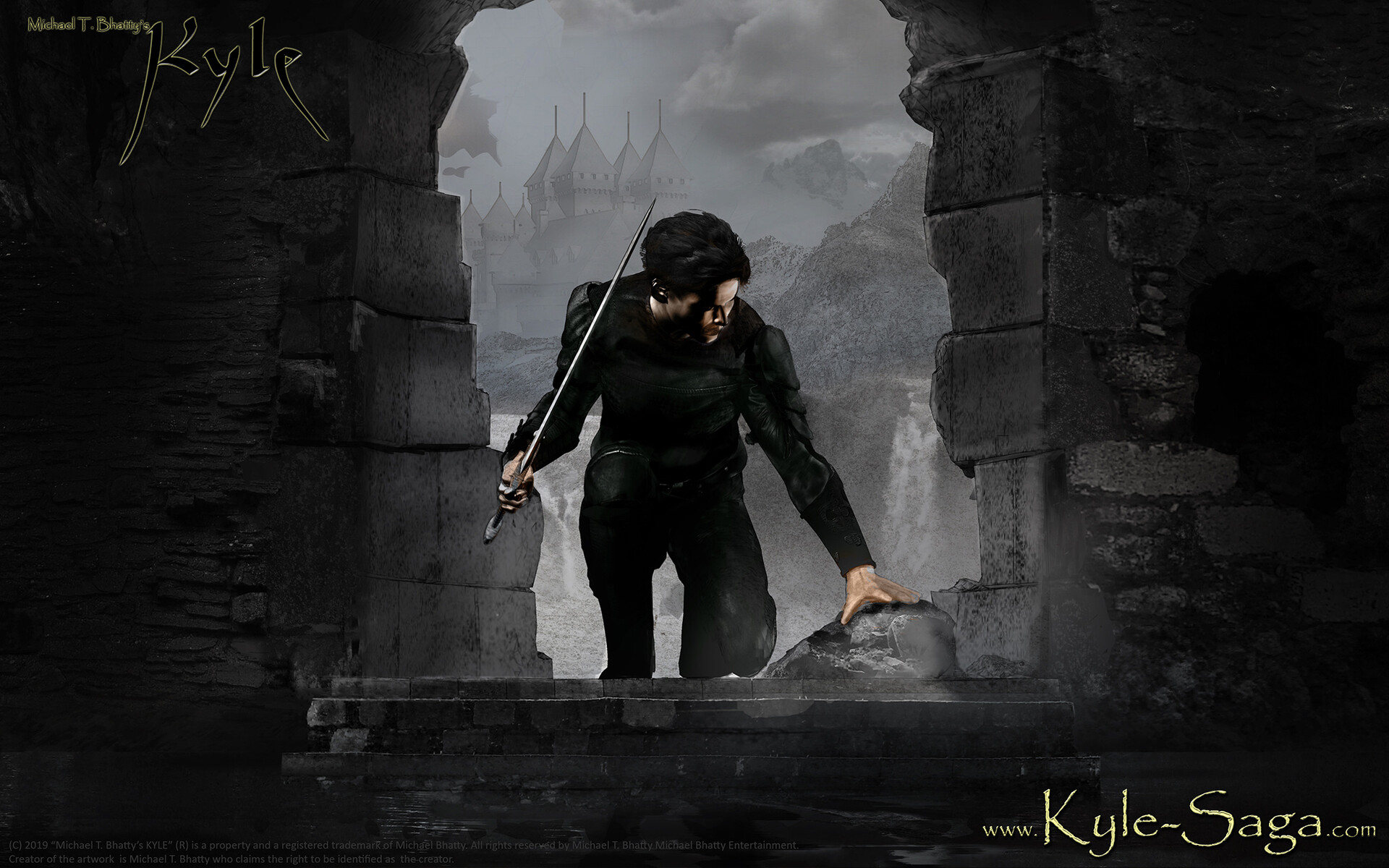 KYLE 2 | Payntorra - a work in progress study for my upcoming novel.