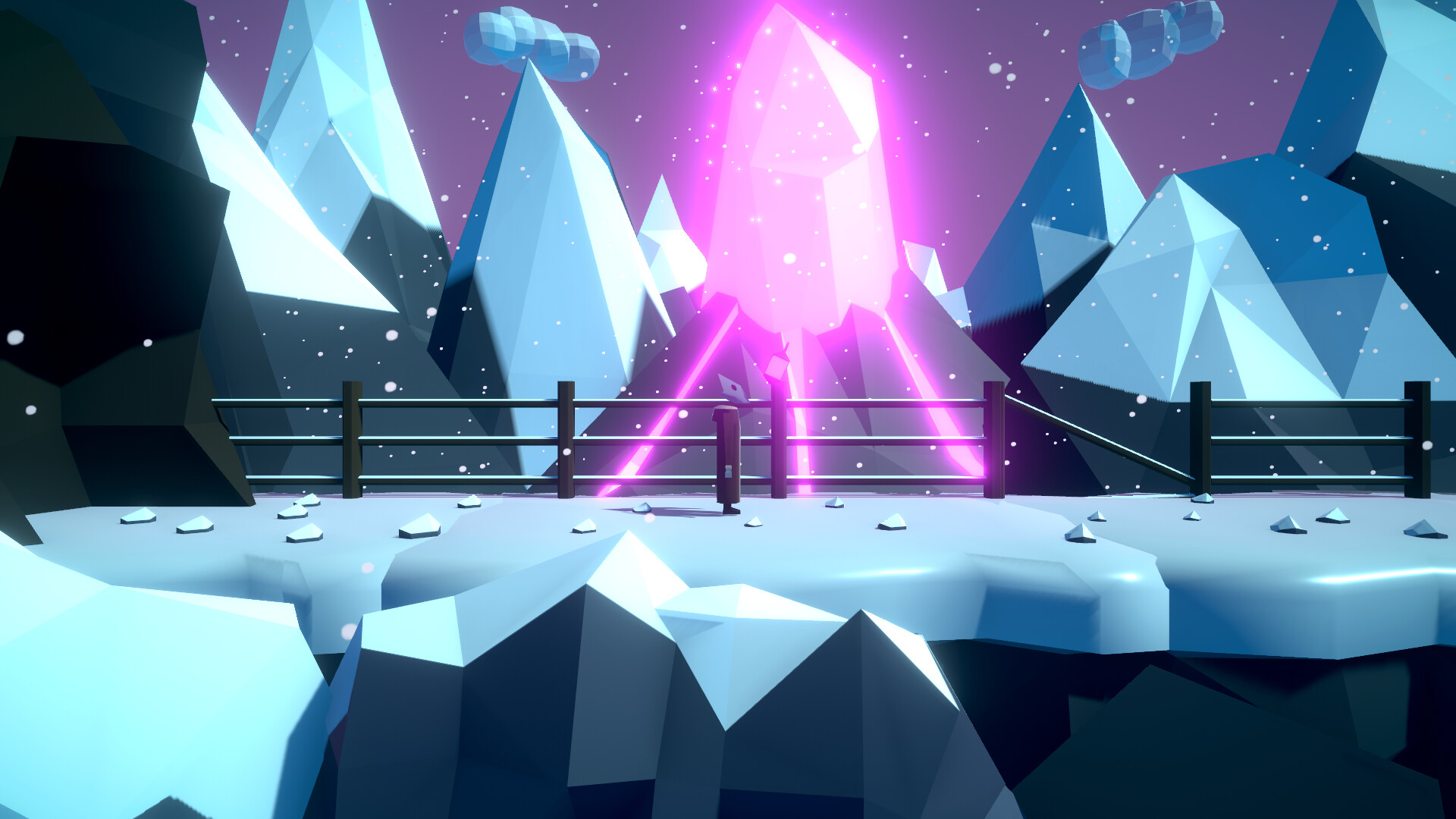 Close-up of the Mountain. This is a moment before the player begins a cut-scene.