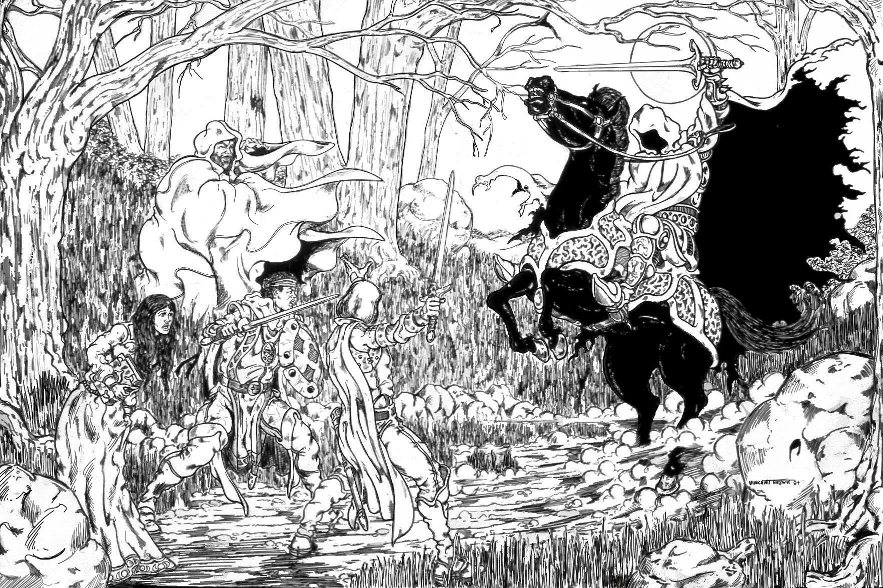 Vincent bryant a dark rider blocked their path