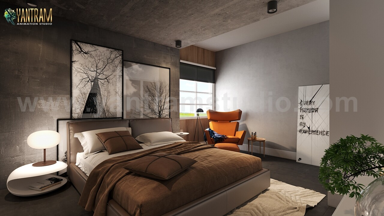 ArtStation - Modern Master Bedroom Design Concept with 3D ...