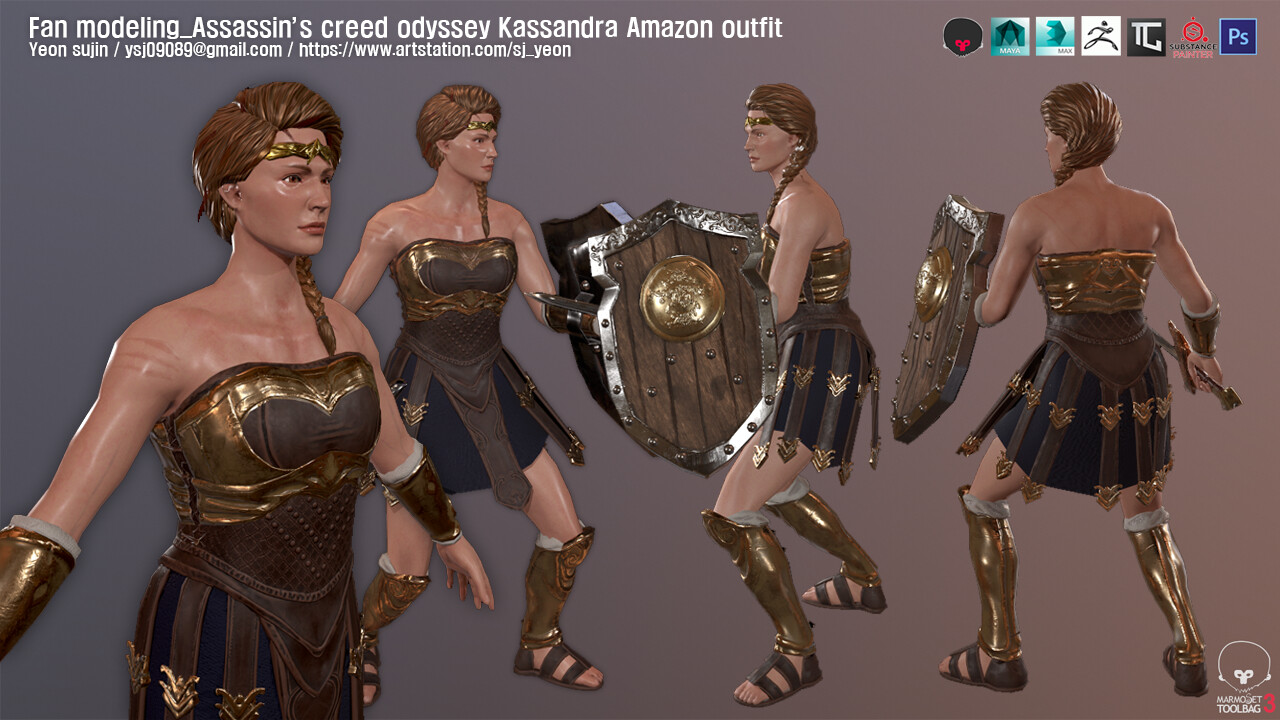 Artstation Assassin S Creed Odyssey Kassandra Fan Modeling