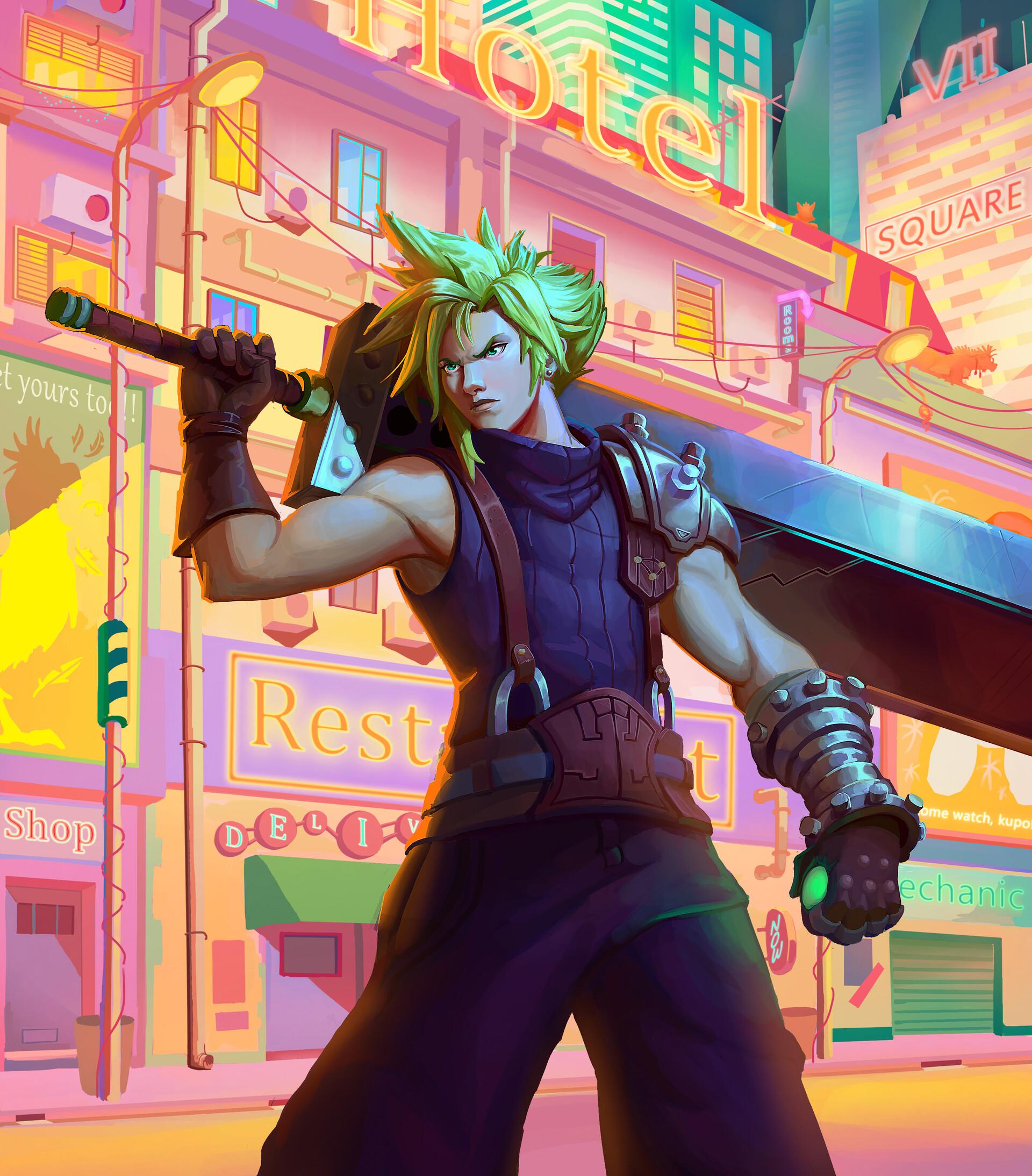 Artstation Cloud Strife Final Fantasy Vii Fanart Bruno