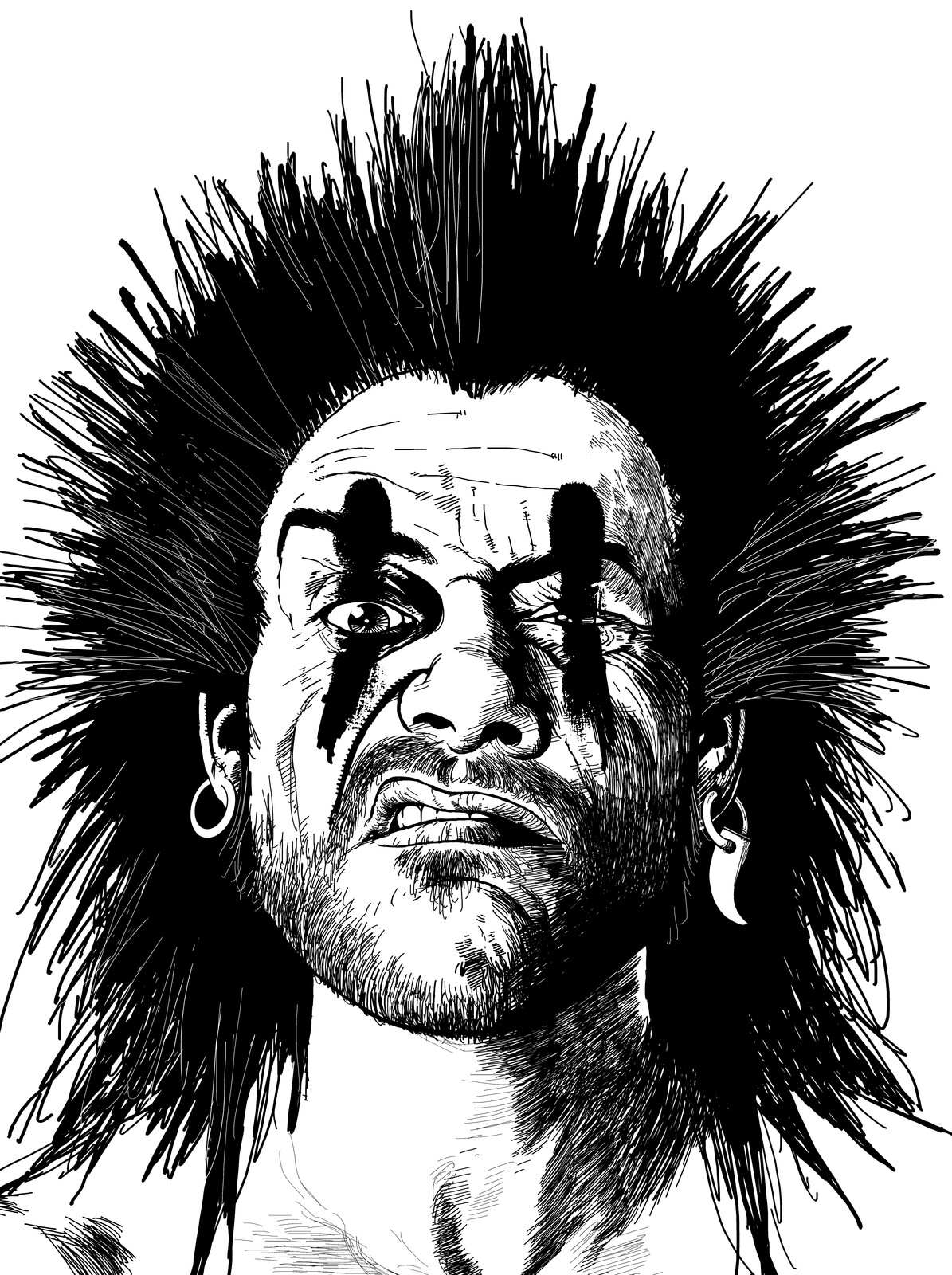 Slaine Portrait Sketch