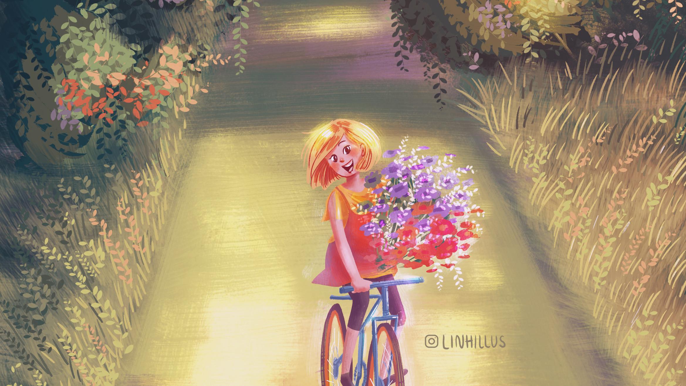 A girl who bikes.