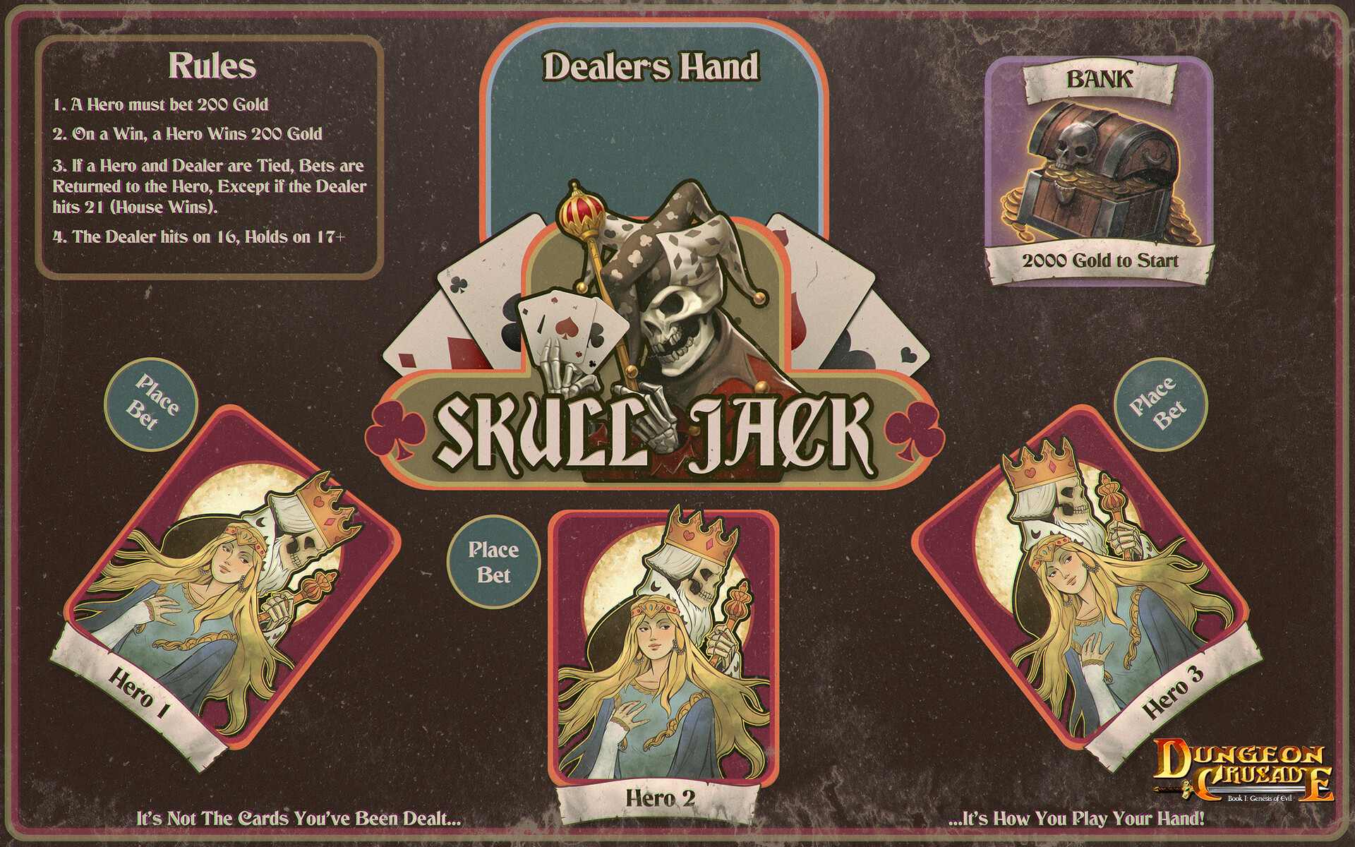 Skull Jack (blackjack) Mini Game