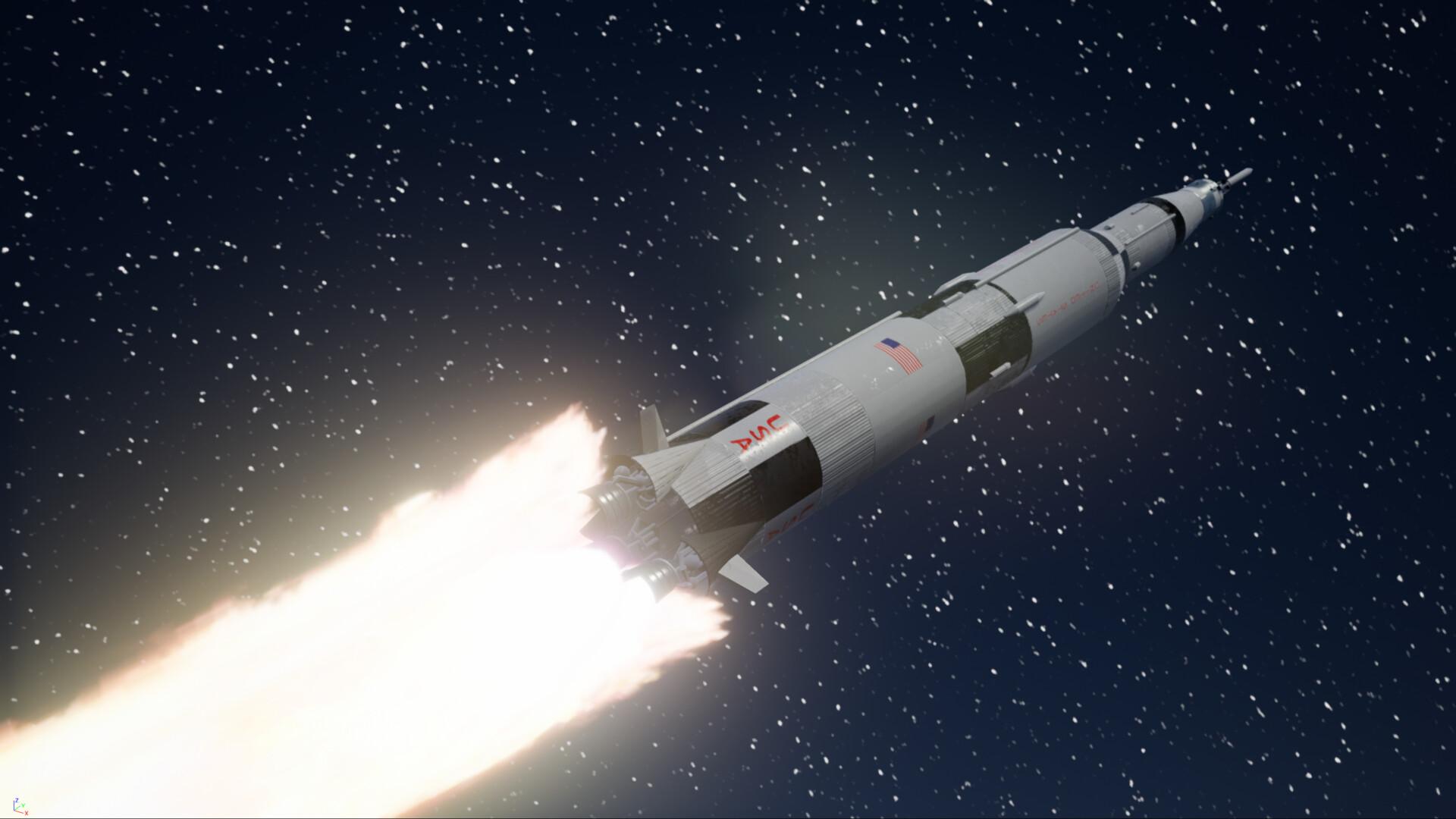 ArtStation   SaturnV rocket, TAIGA ZOE