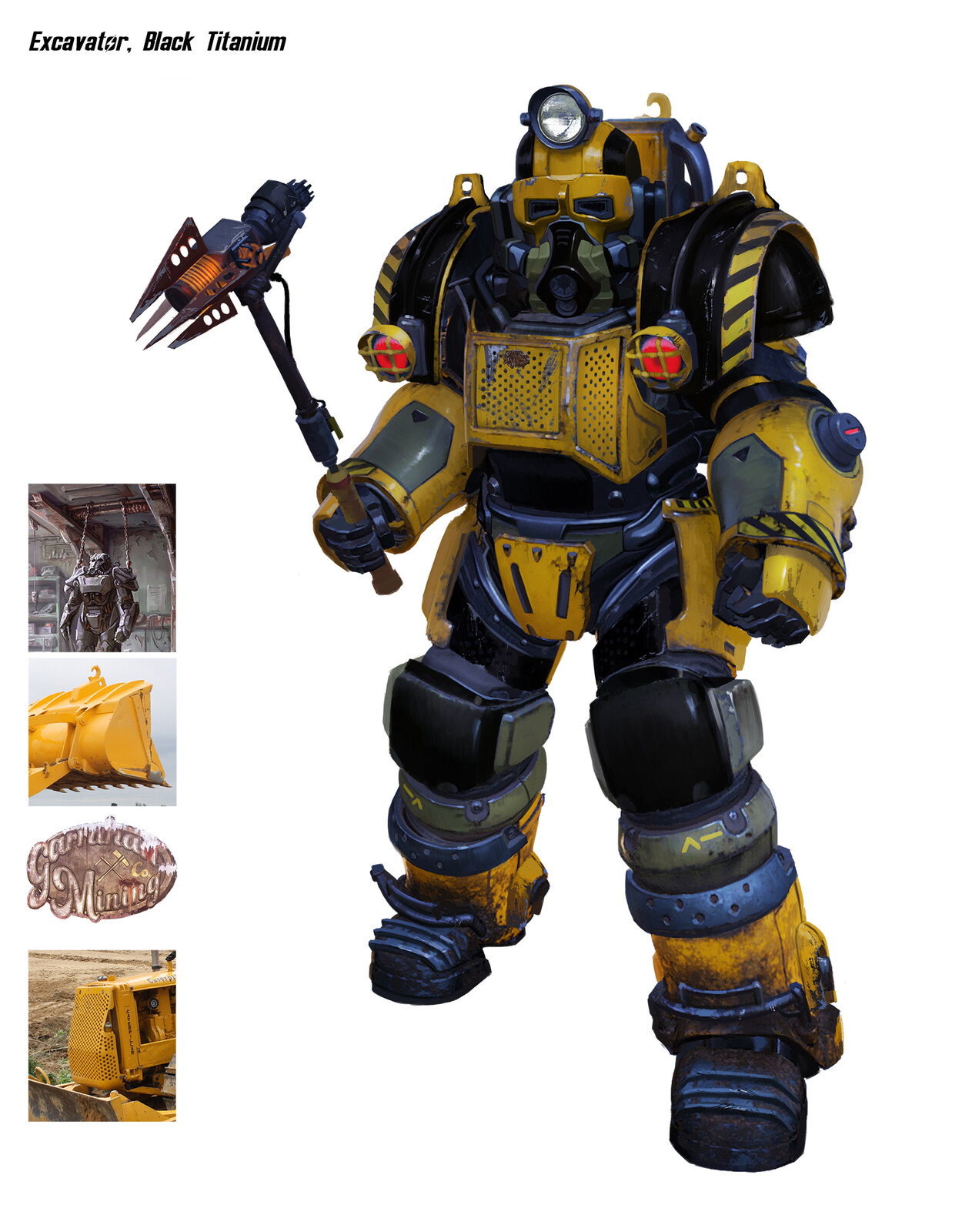 Fan art for Fallout 76, a revision of the existing Excavator power armor.