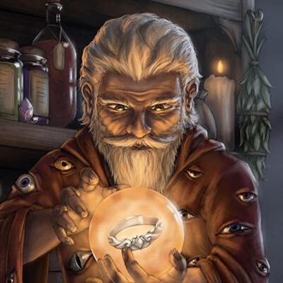 Christian hadfield felix fizzlebang the gnome wizard by christian hadfield lowrez