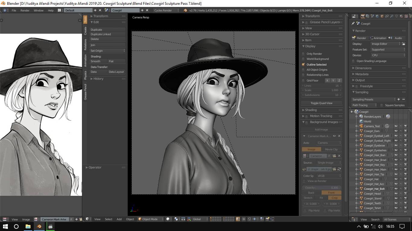 Yuditya afandi cowgirl blender screenshot