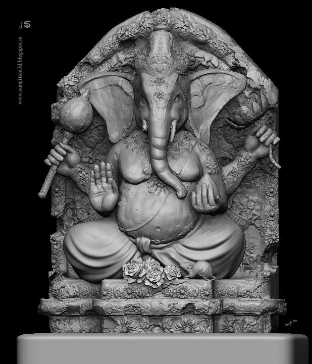 "#ganapatisculpture Wish to share one of my updated Digital sculpting works…""Vinayaka. I dedicate this Digital Sculpt to Lord Ganapati."