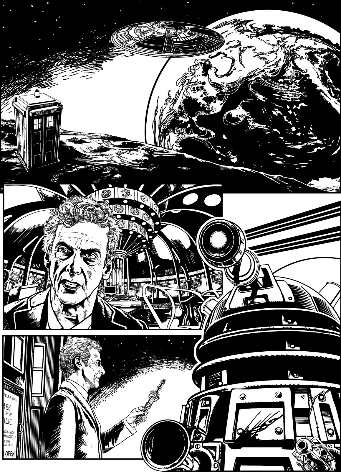 Dr Who Strip page