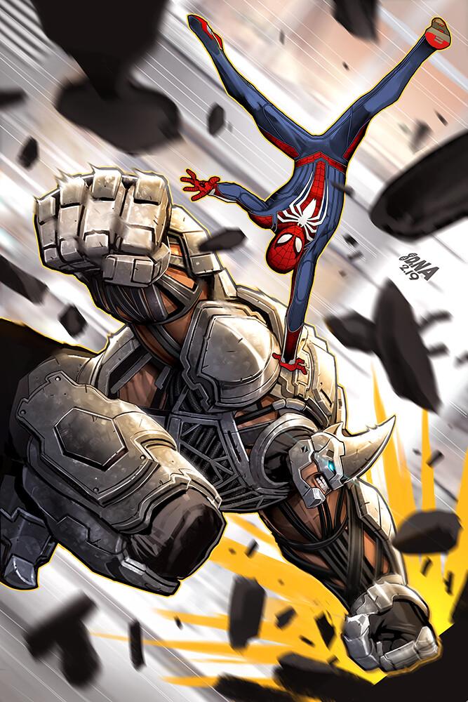 David nakayama 04 spiderman rhino 1000v