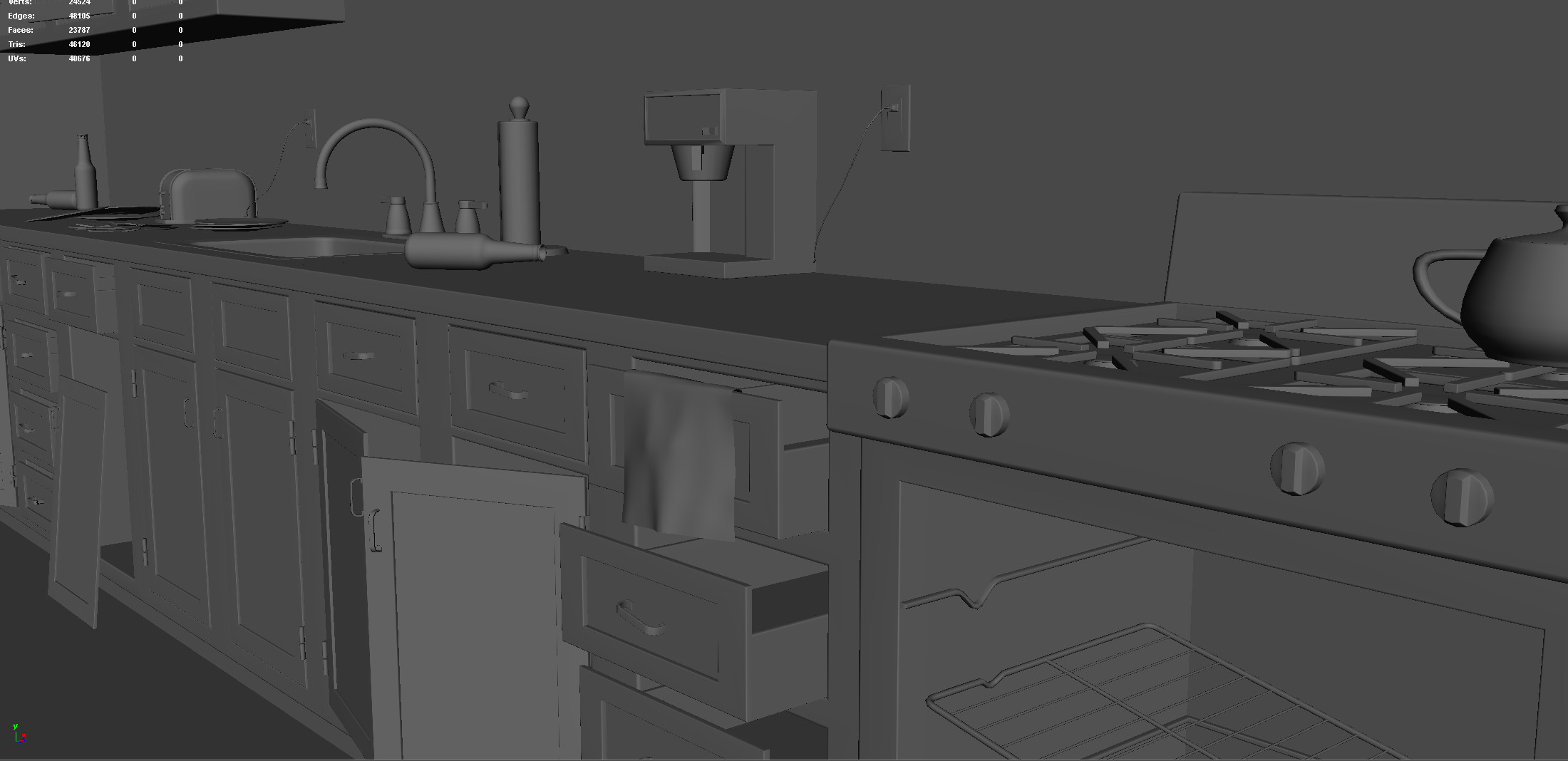 Cafeteria Counter 2 (Modeling Stage)