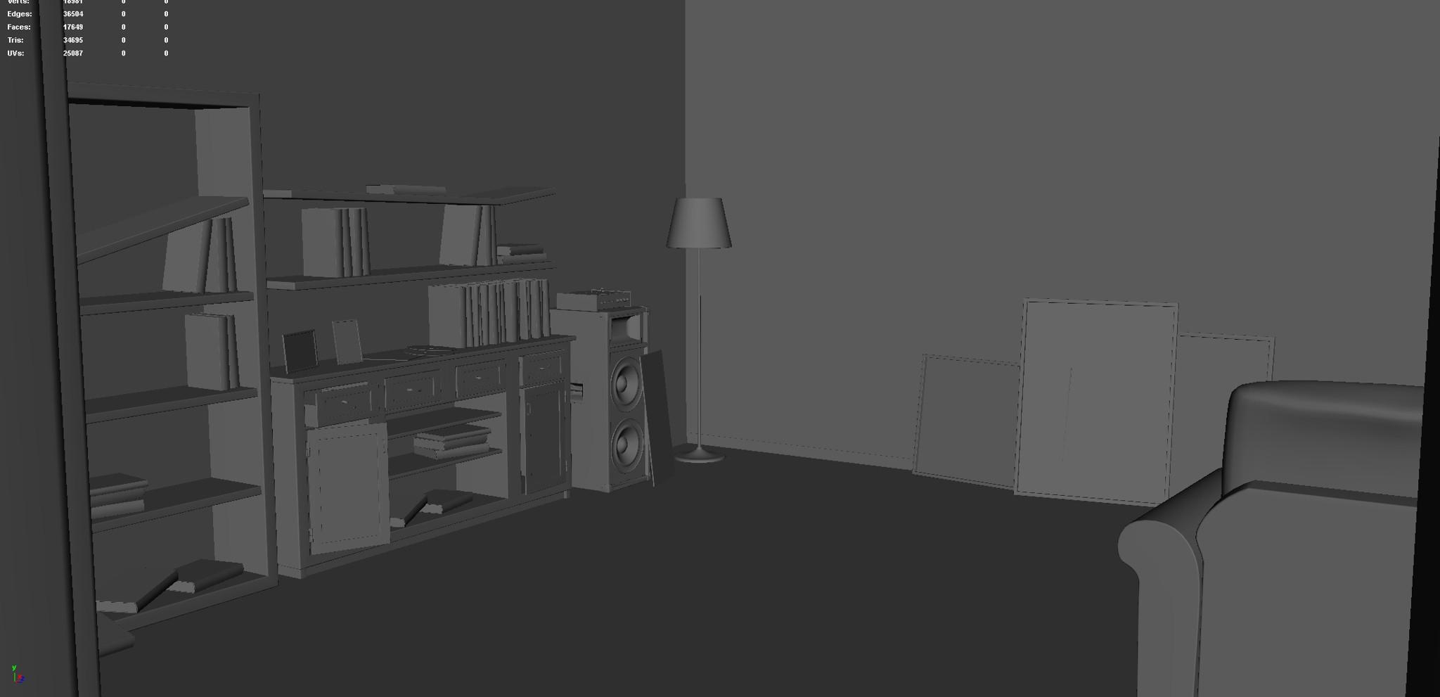 Living Room (Modeling Stage)