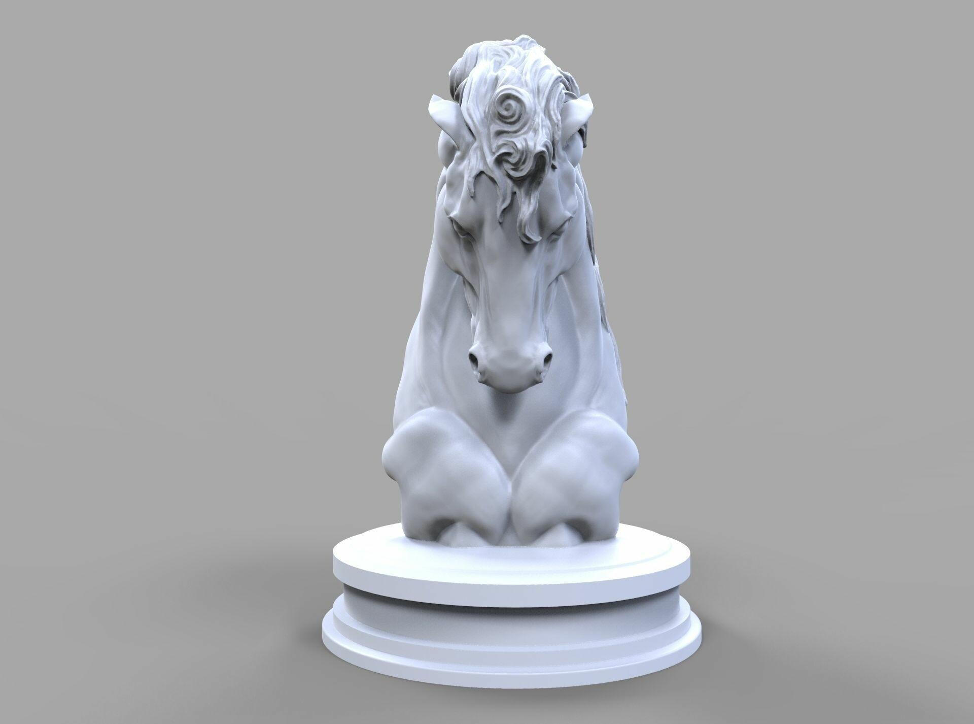 Georg povolyaev torso of a horse 3d model obj mtl fbx stl blend dae 1