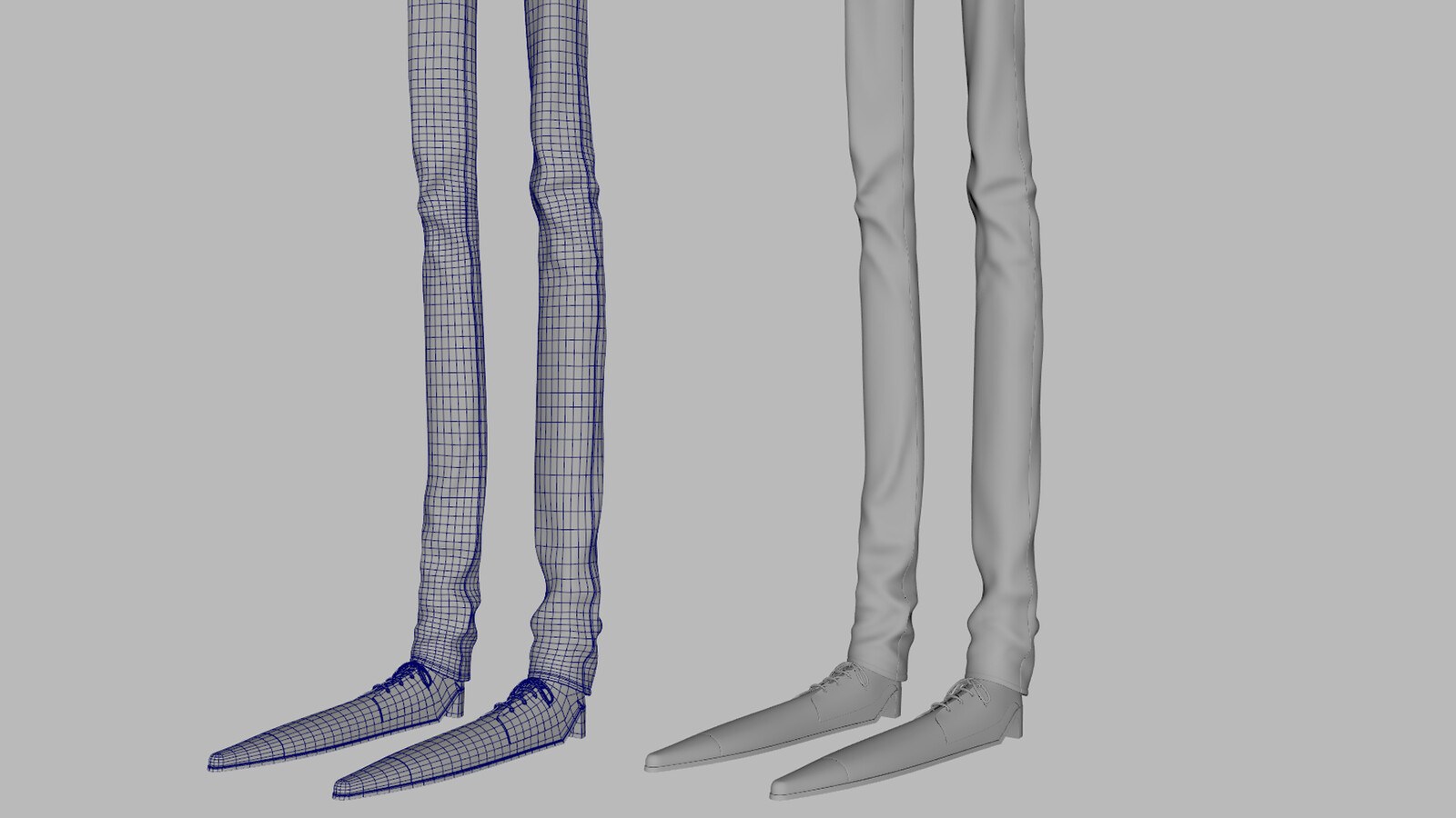 Legs wireframe