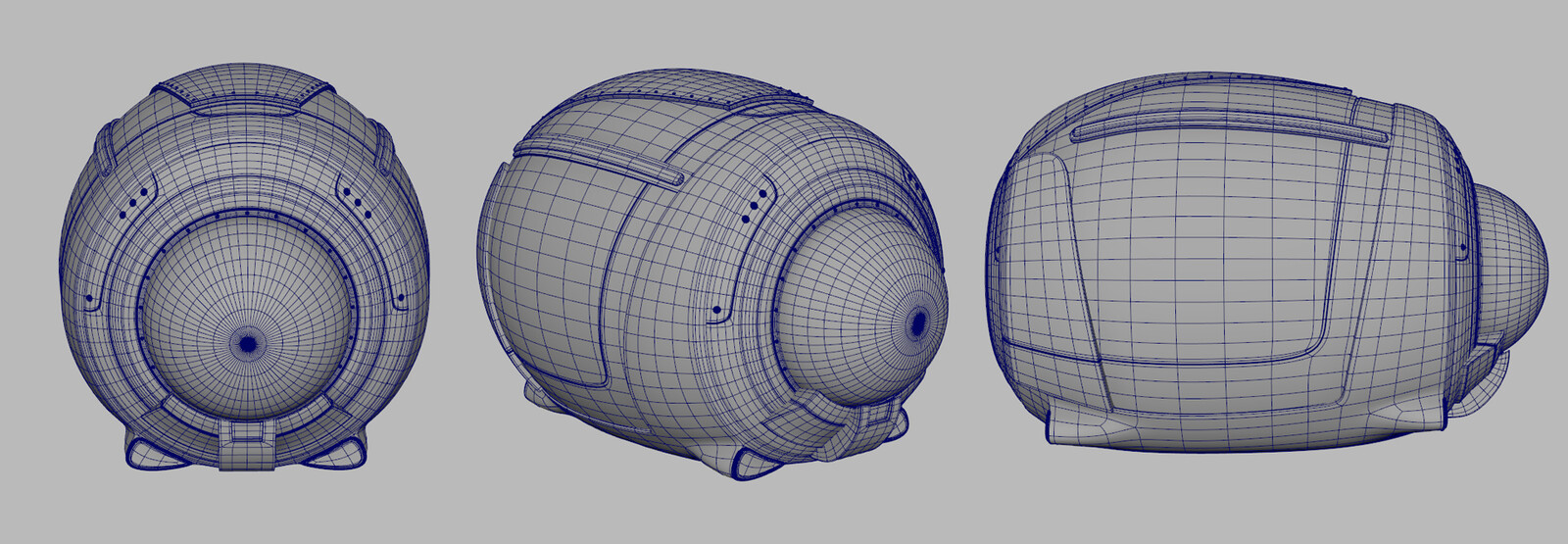 Spaceship wireframe