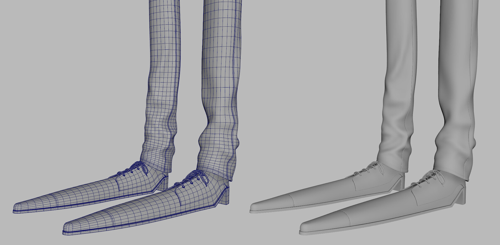 Feet wireframe