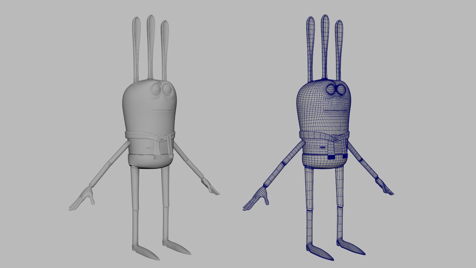 Charlie Mannequin wireframe
