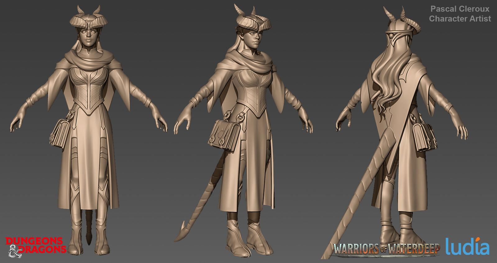 Dungeons and Dragons Farideh Rare Set - Zbrush