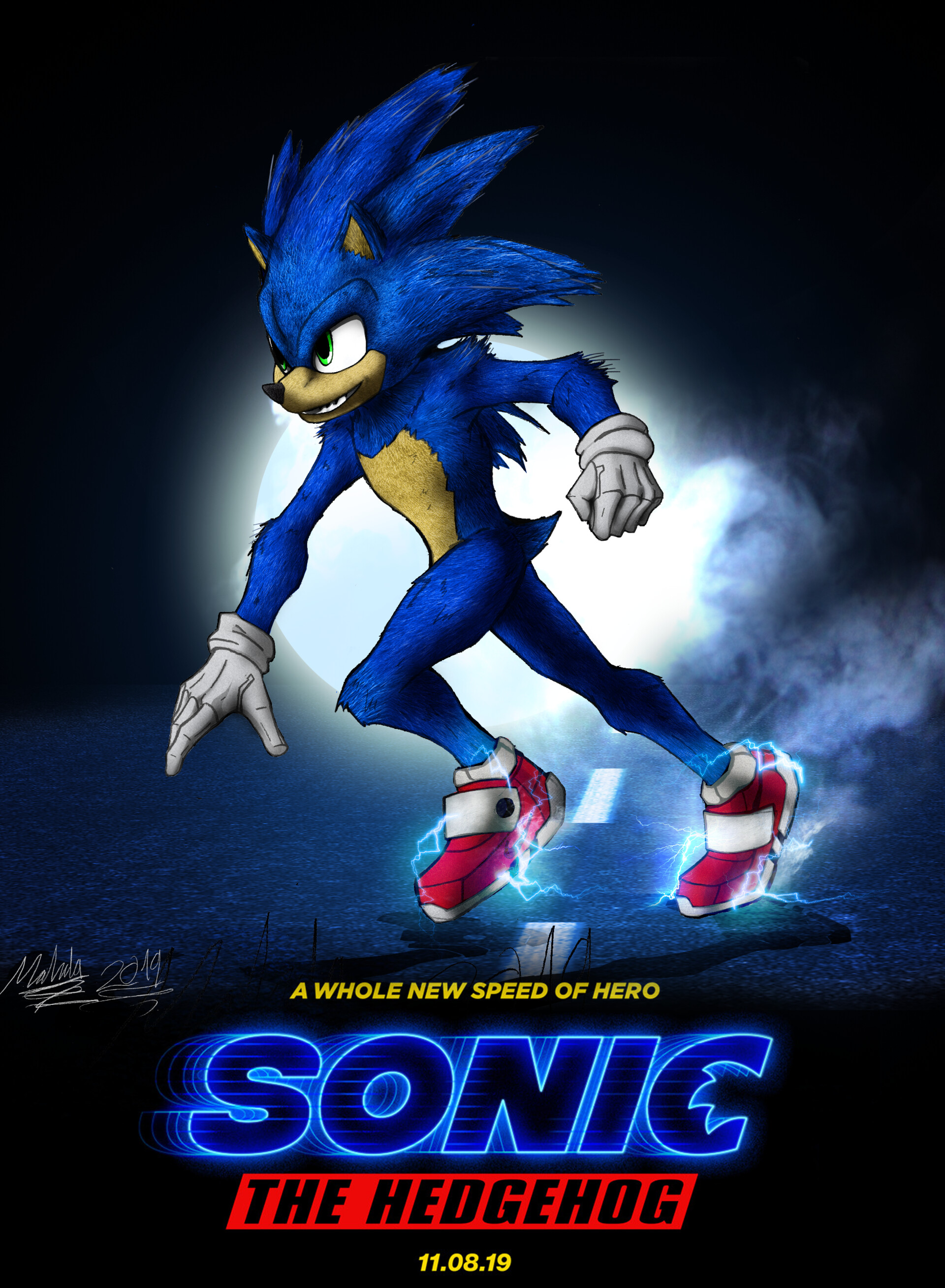 sonic the hedgehog movie poster 2019