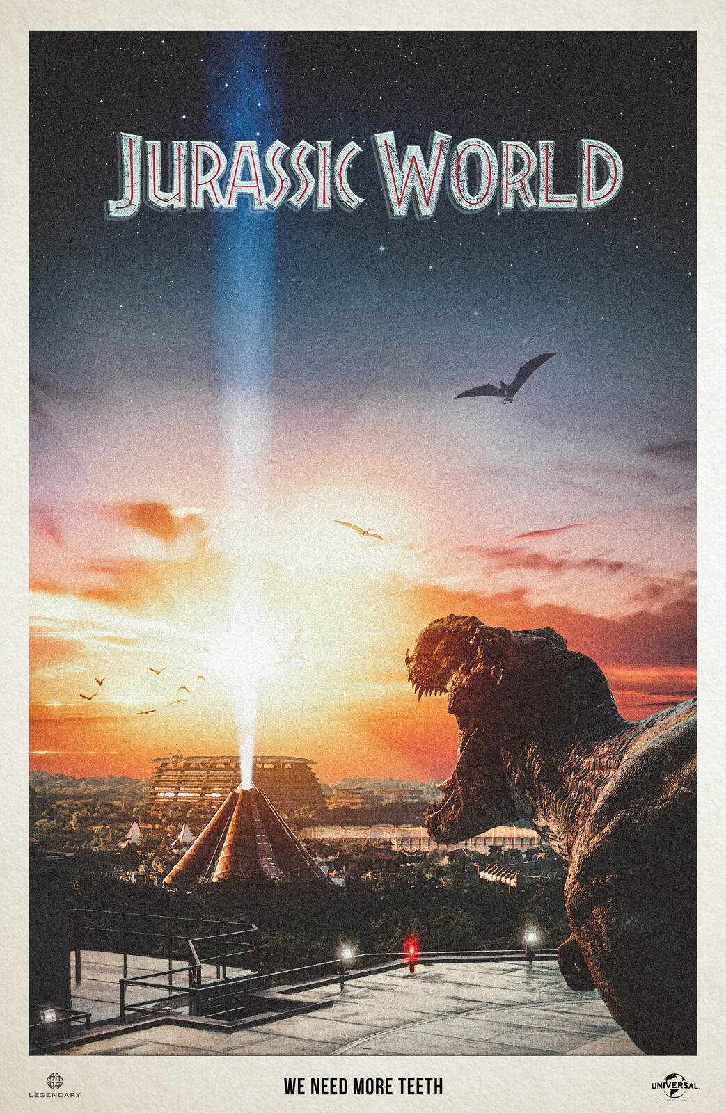 Need More Teeth - Jurassic World Vertically Extended Alternate Movie Poster