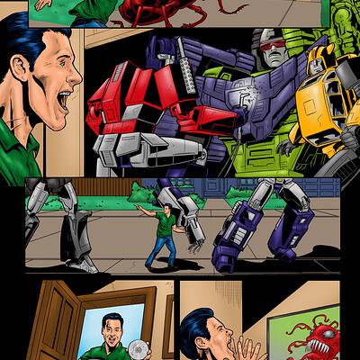 Armando abeleda transformers in the garage color
