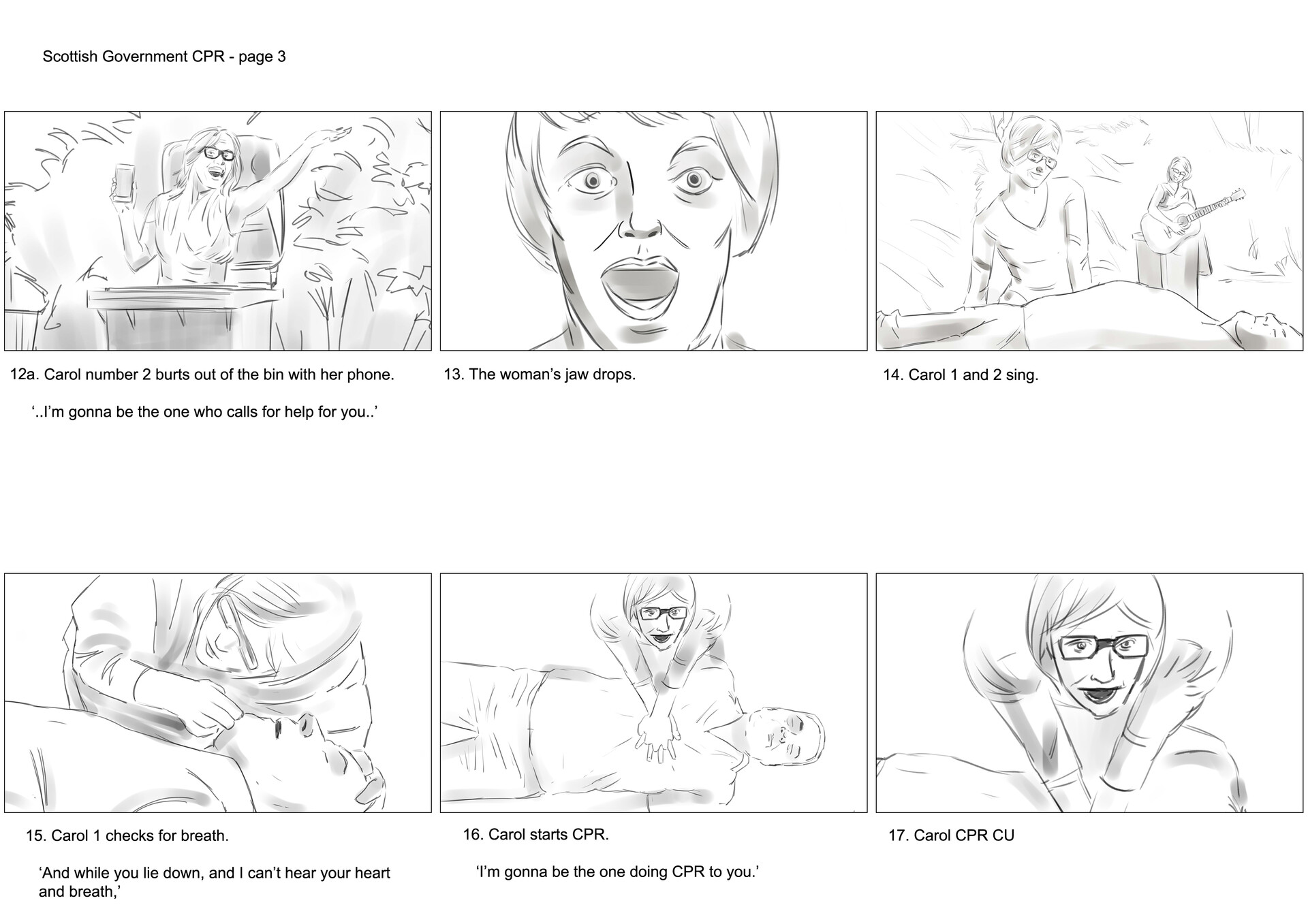 David newbigging save a life for scotland storyboards v2 3