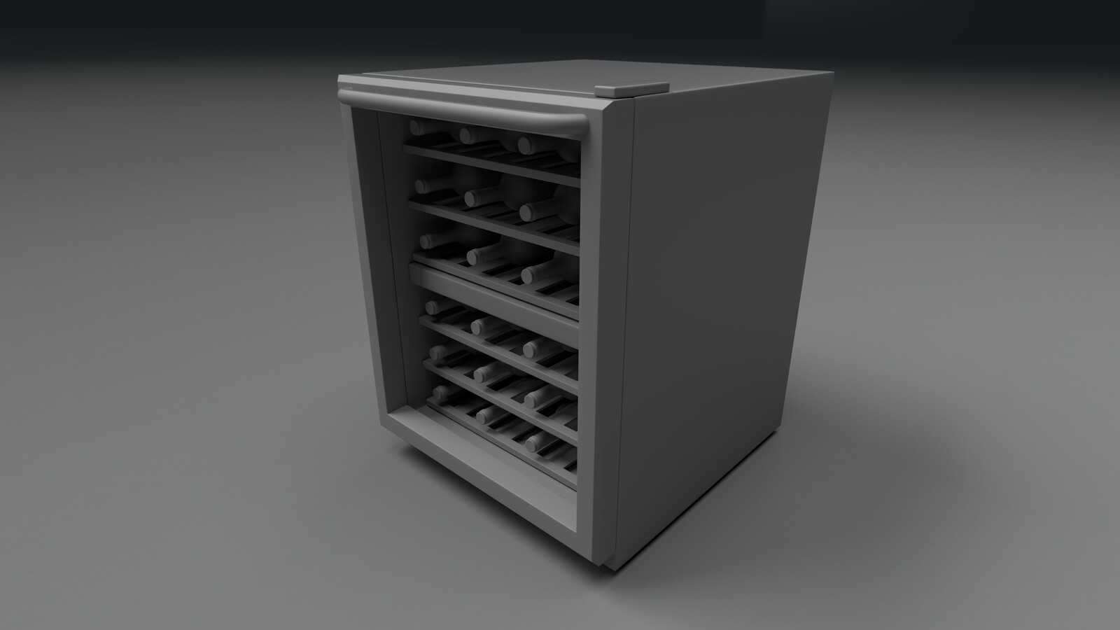Wine Fridge with Wine Bottles