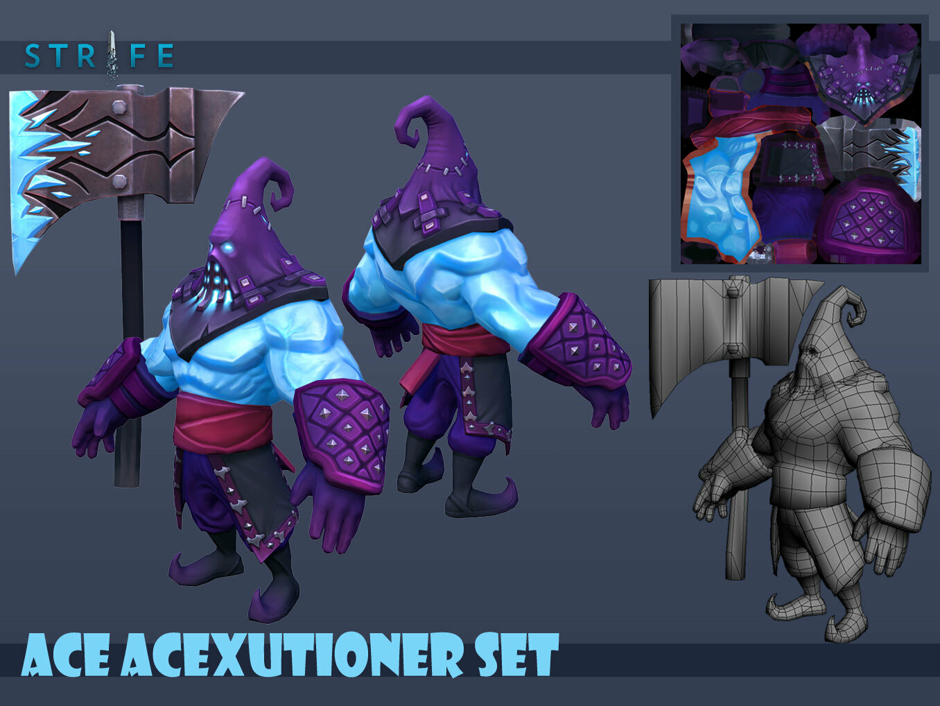 Ace AceXcutioner Set  4k Polygons  Diffuse, Normal, Specular