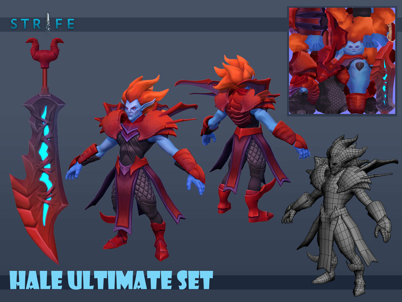 Hale Ultimate Dracula Set 8k Polygons Diffuse, Normal, Specular   Original high-poly Base body made by Seth
