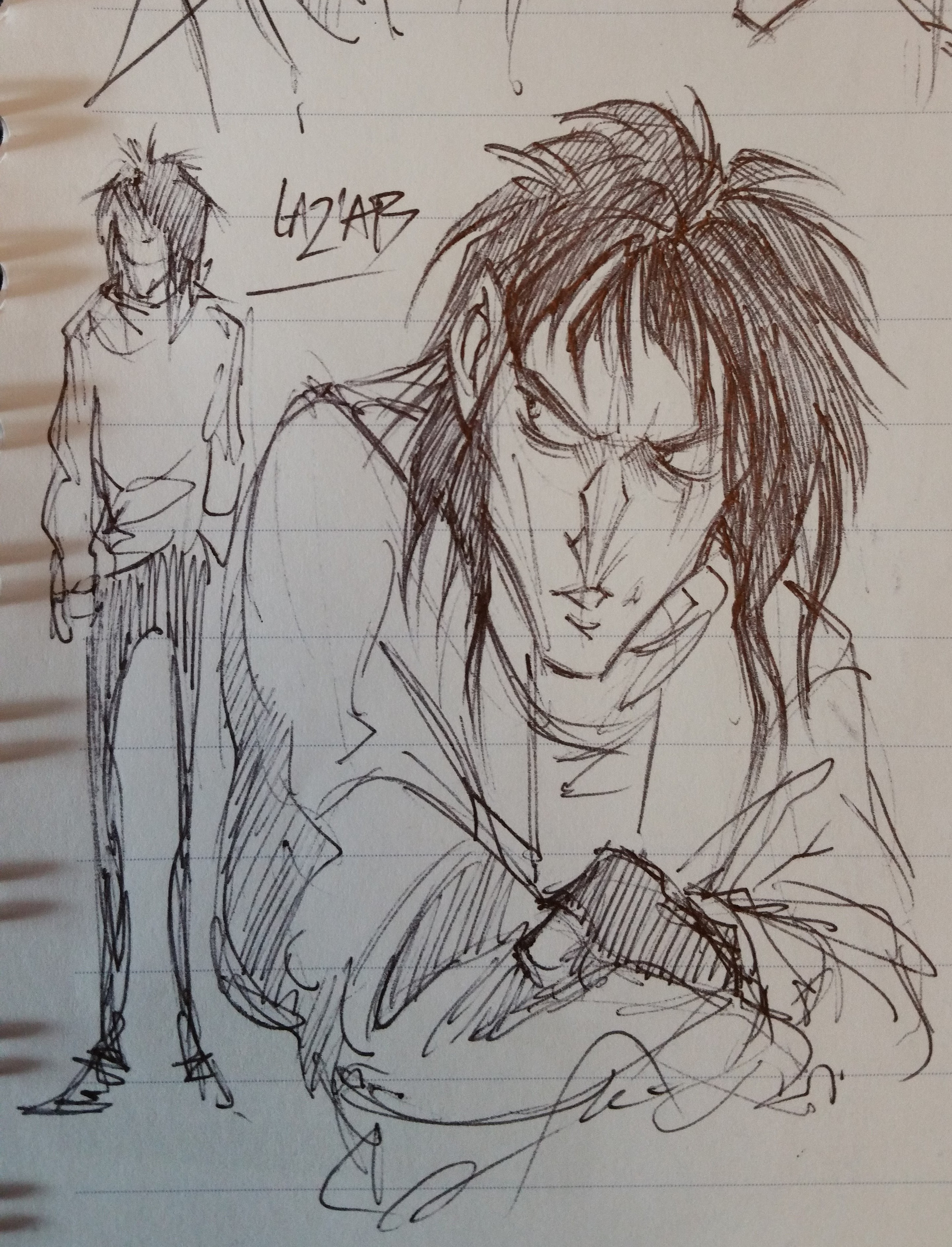 Original sketch of human!Laz'ab from 2018