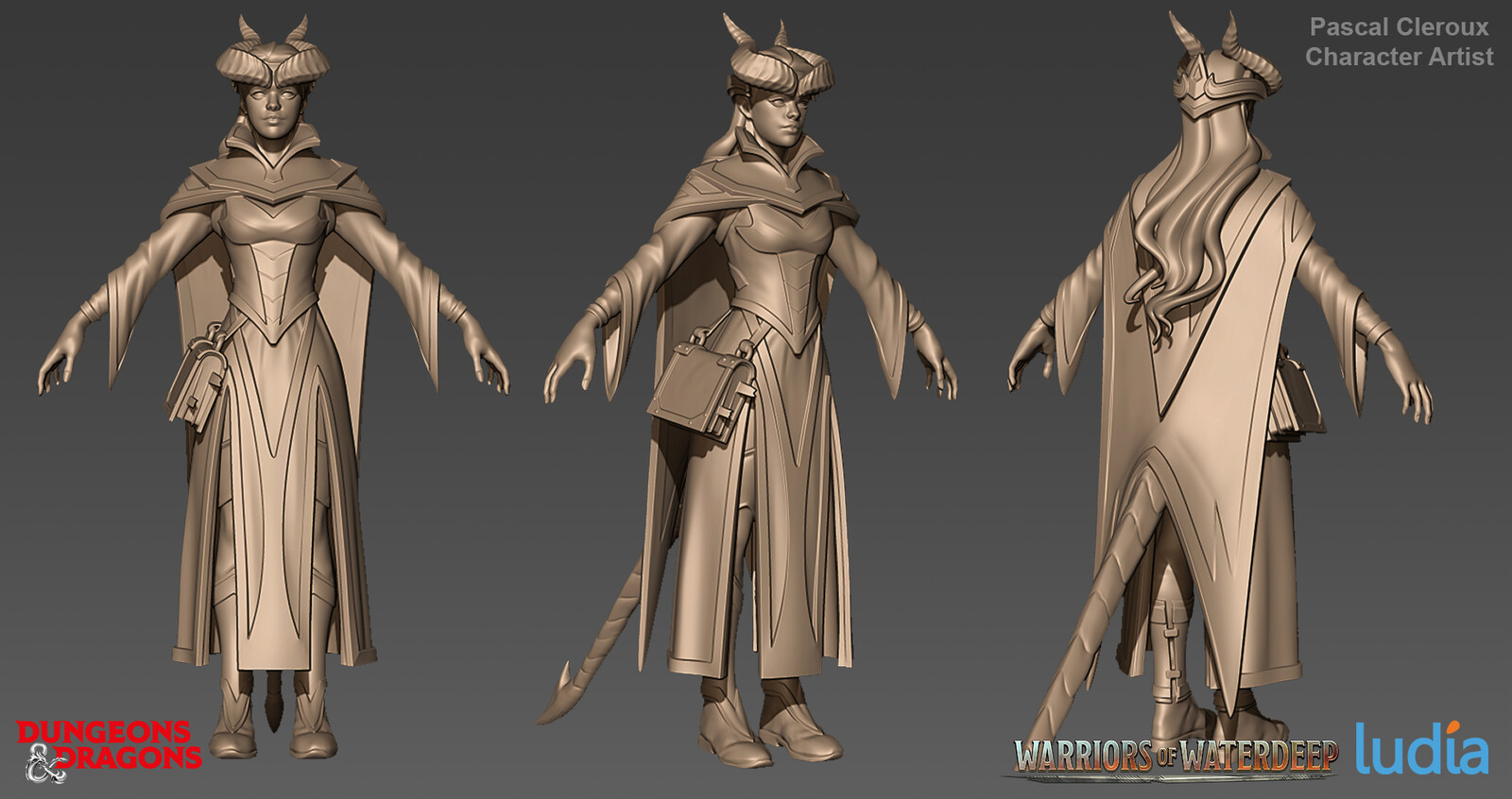 Dungeons and Dragons Farideh Epic Set - Zbrush