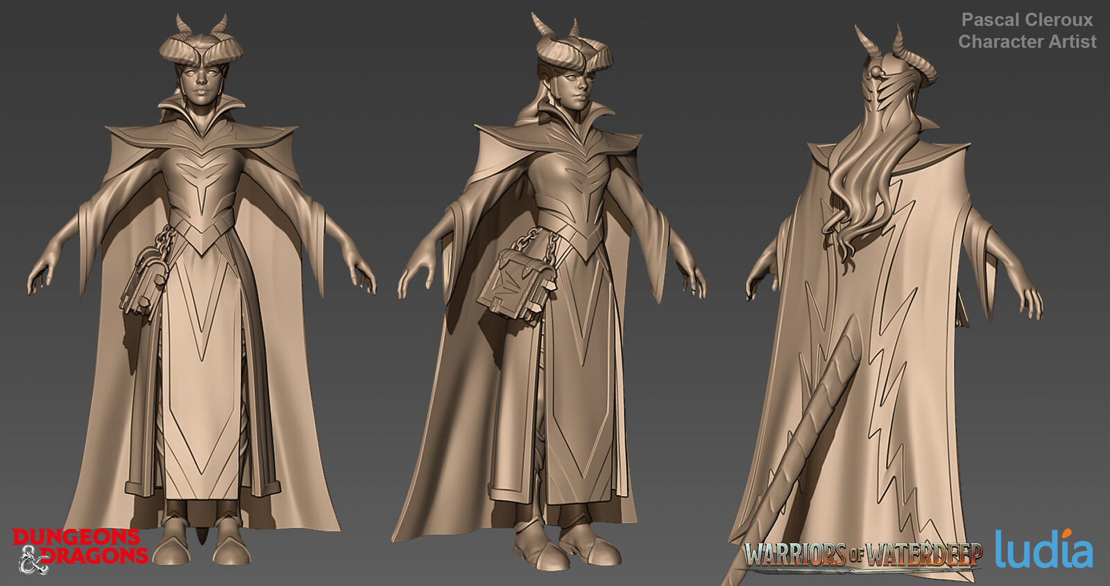 Dungeons and Dragons Farideh Legendary Set - Zbrush