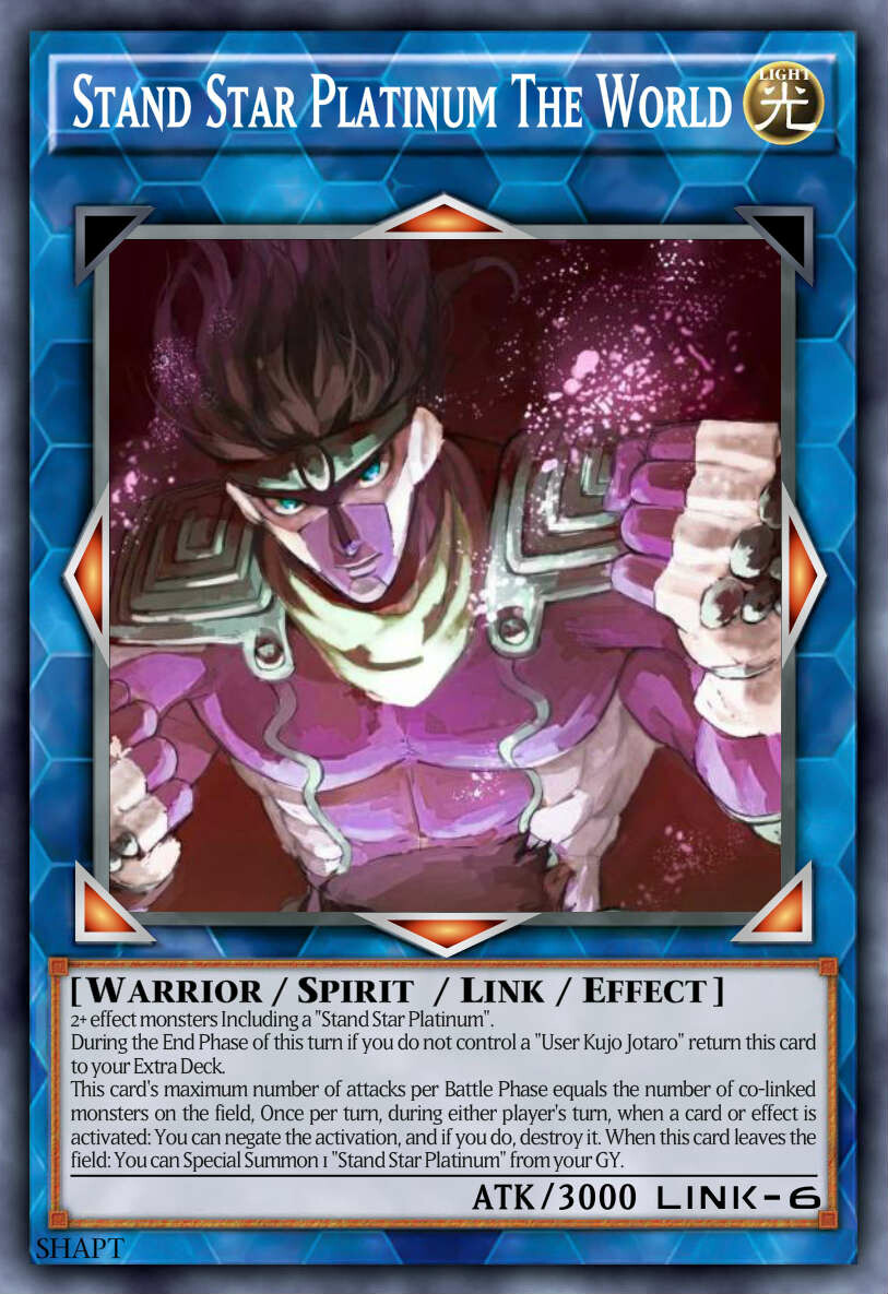 Shapt   - Yu-Gi-Oh Custom Cards Jojo Part 3
