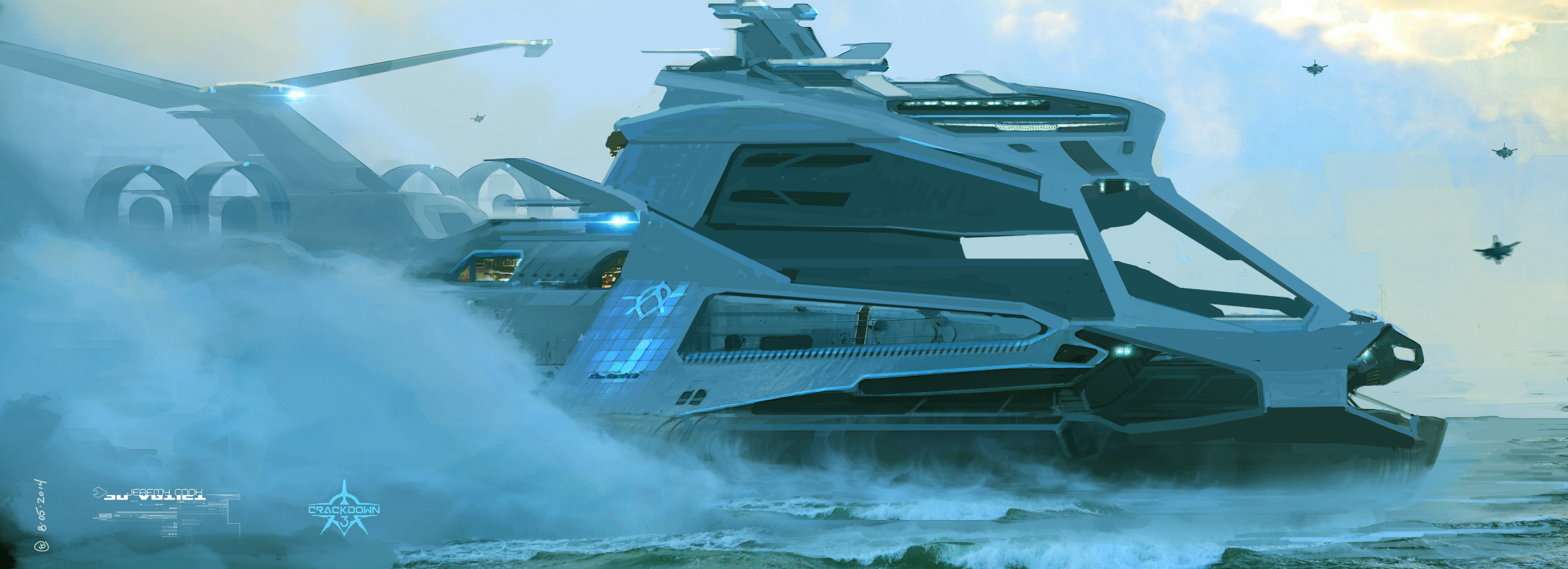 Early concept for Agency super carrier (water based)