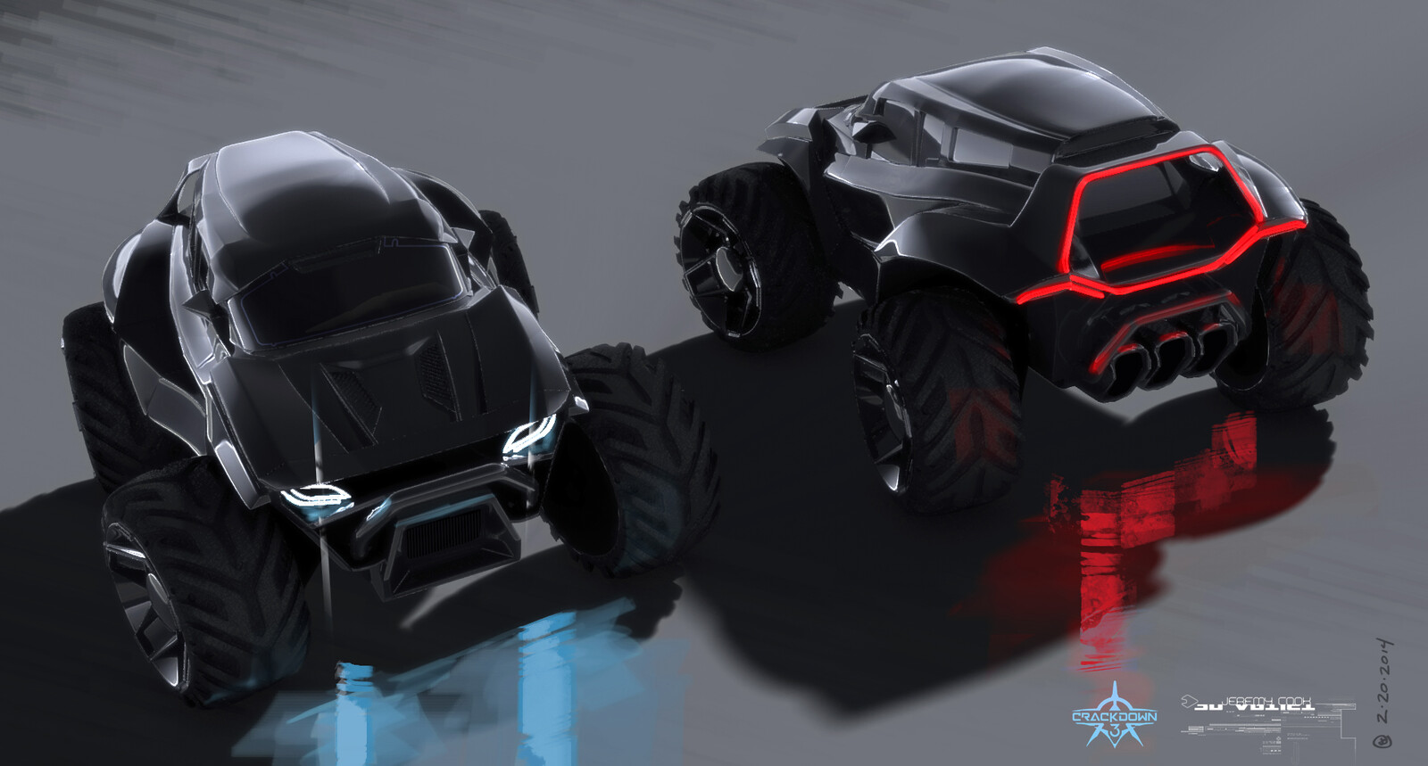 Sketch of Agent SUV (early)