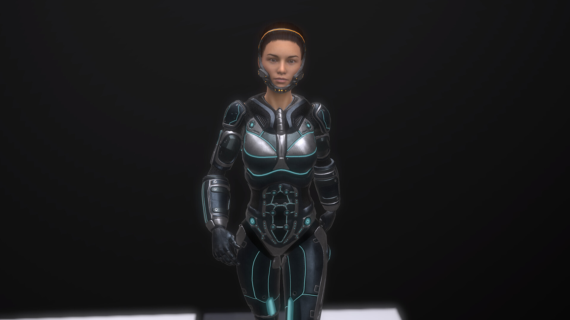 Sci Fi woman low poly whole character  23k with simple animation